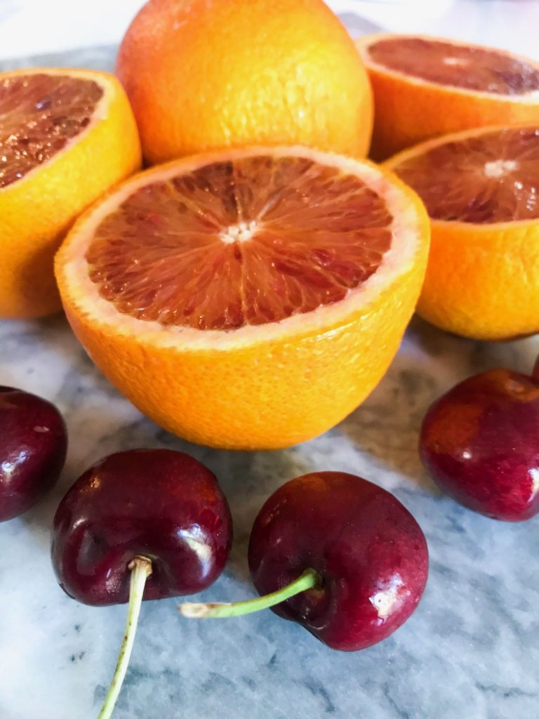 No Sugar Blood Orange Cherries Canning Recipe
