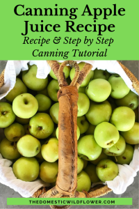 Canning Apple Juice Recipe | Step by Step canning tutorial and easy recipe!