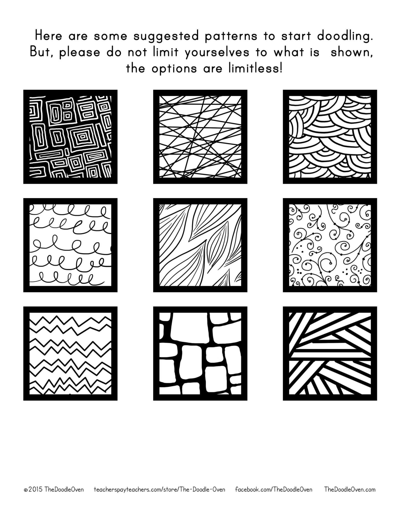 Zentangle Pattern Suggestions The Doodle Oven Heidi