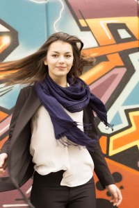 Blauer Schal