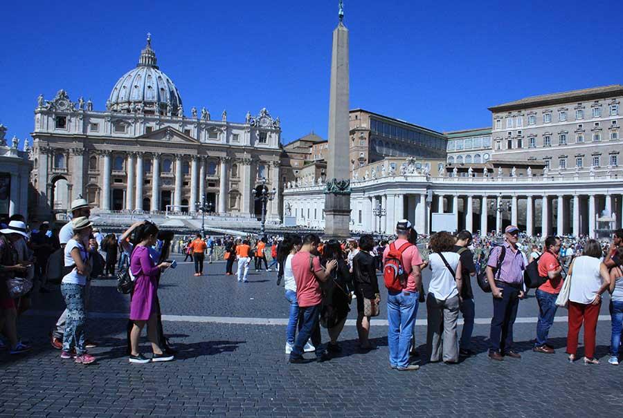 Rom zu Fuß Petersdopm