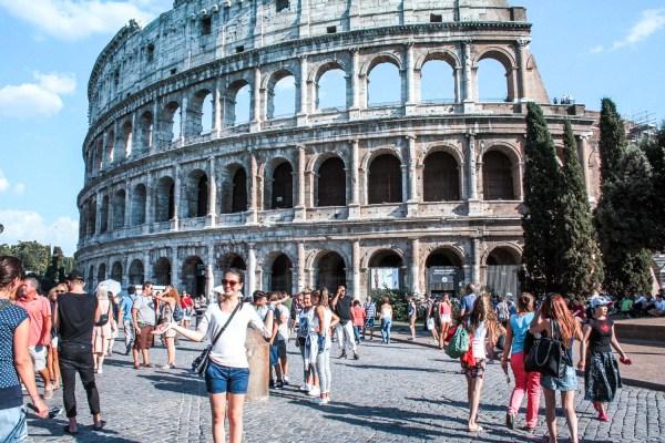 Colosseum in Rom auf der Rom zu Fuß Tour