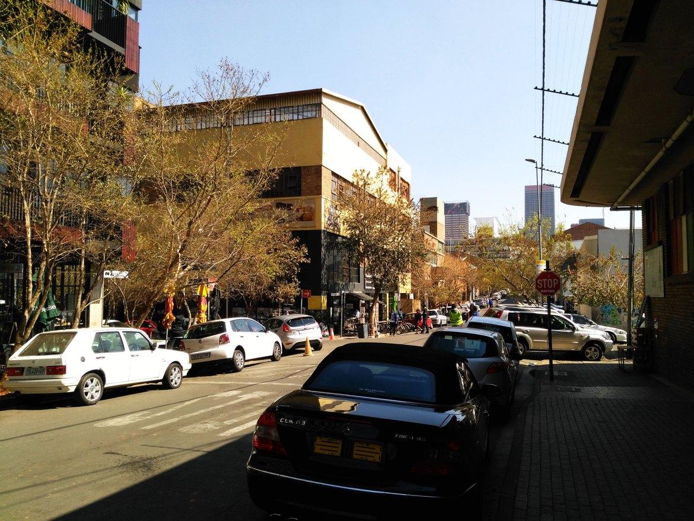 Straße in Maboneng, Johannesburg