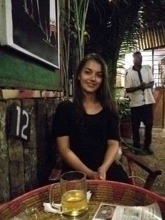 Dorie at the ethiopian Restaurant