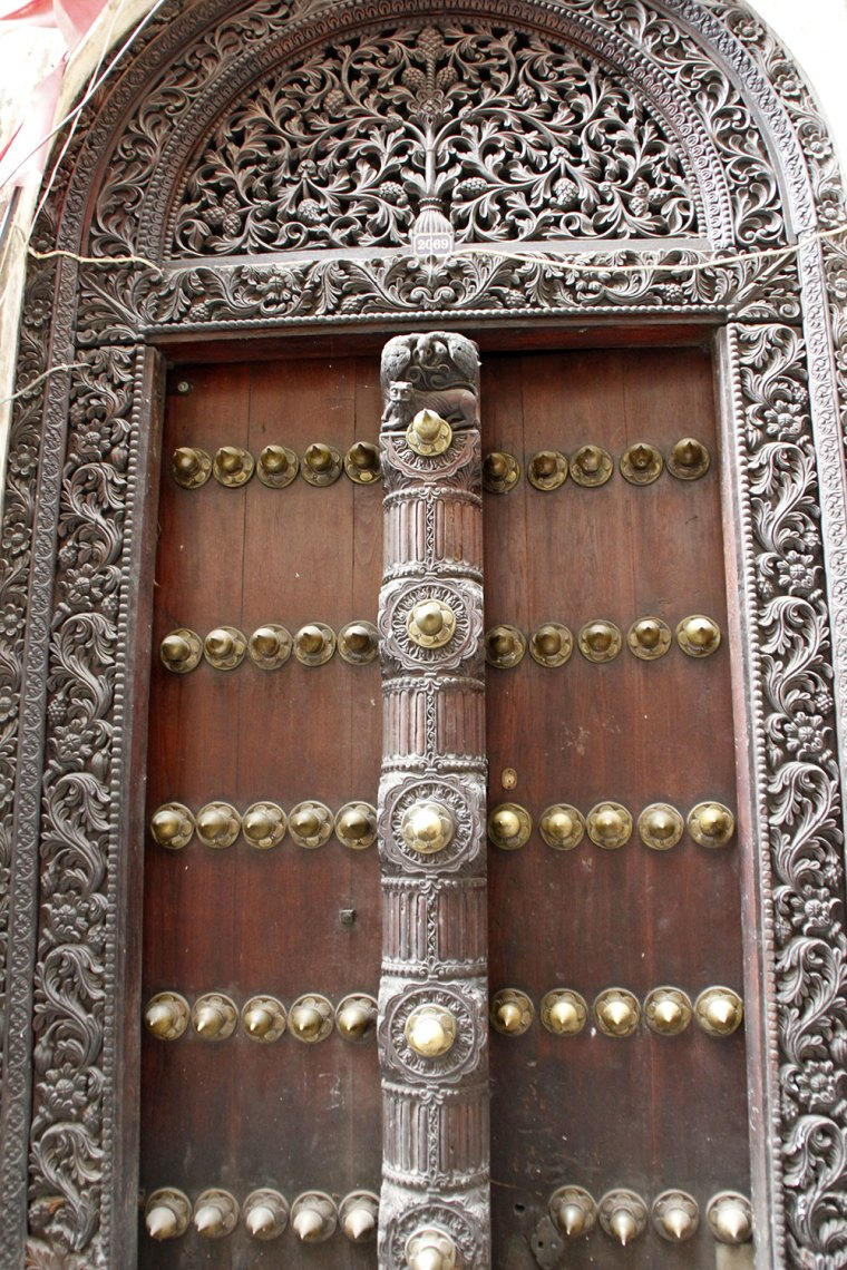 Zanzibar Door with golden elements