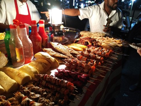 Fish Shashlik at the night market