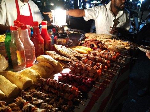 Fish Shashlik at the night market