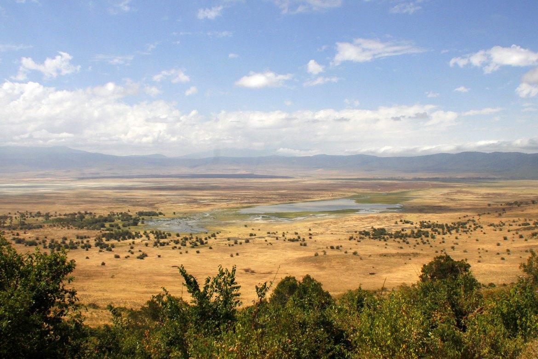 Der Ngorongoro Krater von oben