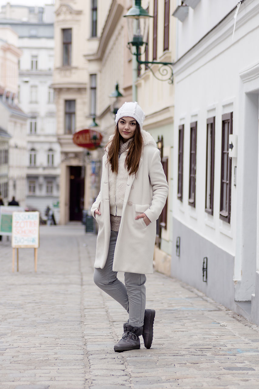 Black and grey layering Winterlook