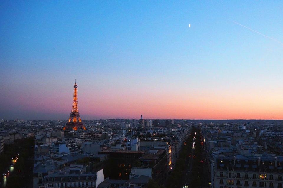Paris im Sonnenuntergang