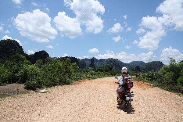Motorbiking at Thakhek Loop