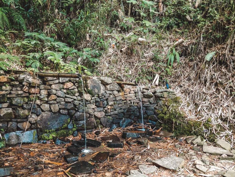 Duschen in Wae Rebo