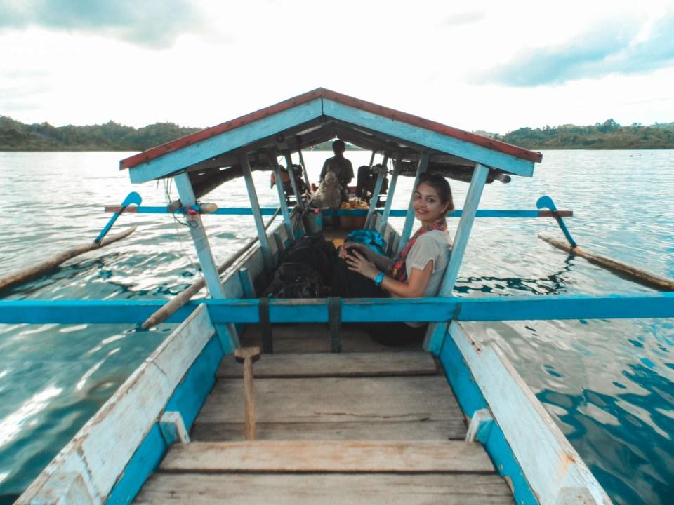 Kleines Boot auf den Togian Islands