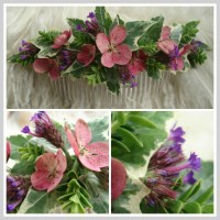 Mid-Summer Floral Hair Comb