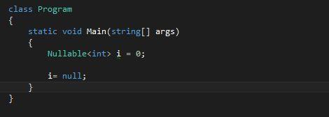 Nullable Type Declaration