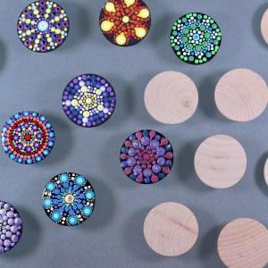 Unpainted Wood Magnets
