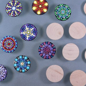 Unpainted Wood Magnets