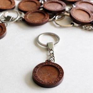 Wood Keychain unpainted