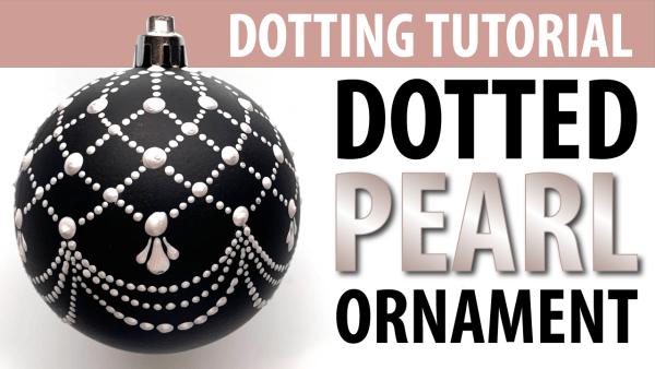 Dotting Tutorial - Christmas Ornaments