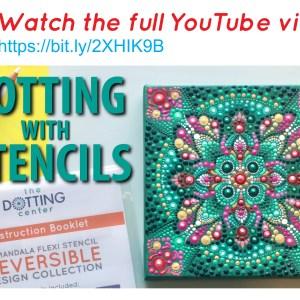 Radiant Mandala Dotting Pattern – PDF Digital Download with YouTube tutorial
