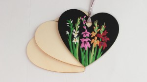 Floral Heart Ornaments