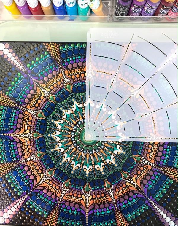 Mandala Grid Stencil