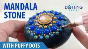Dot Mandala Stone with Puffy Dots