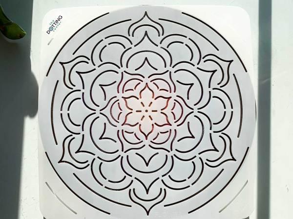 Flower Mandala Stencil