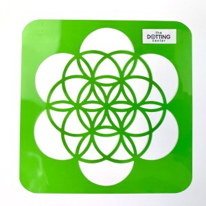 Flower of Life Stencil – Flexible stencil for round object
