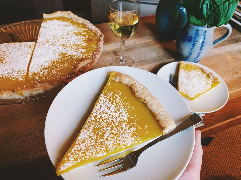 Slice of Lemon tart