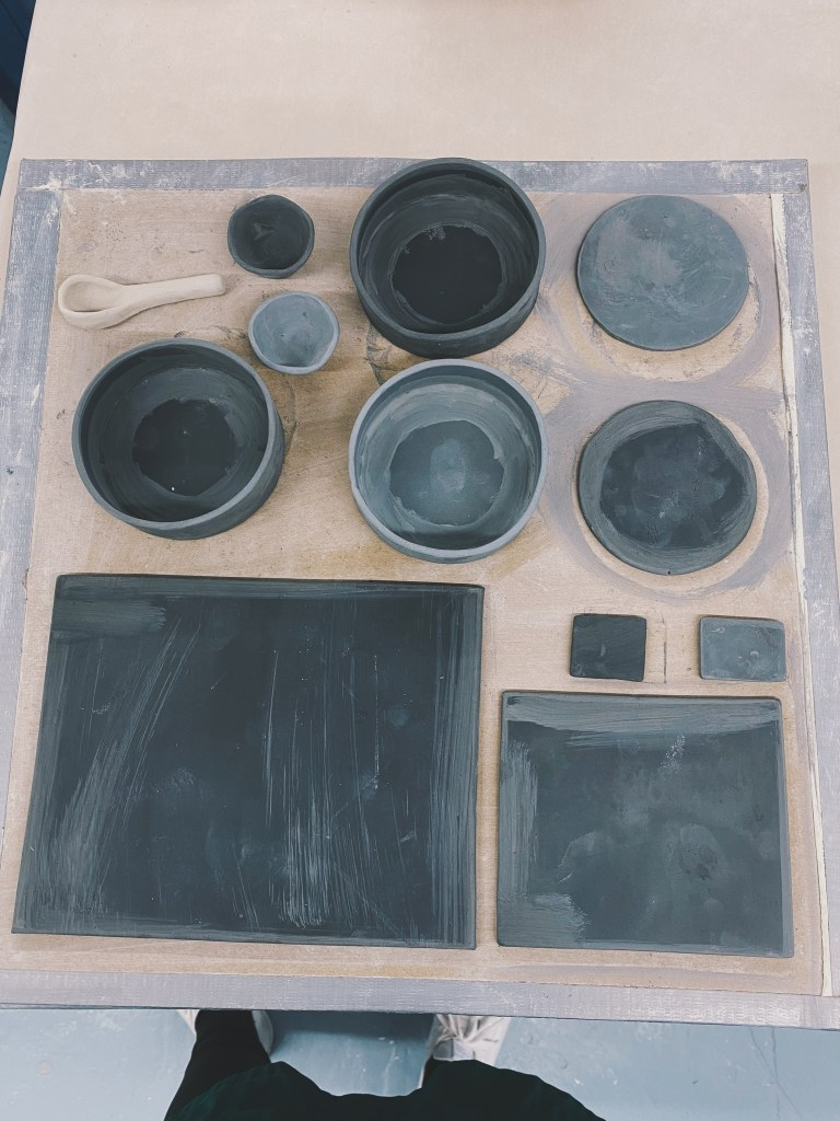 black clay slap ceramics