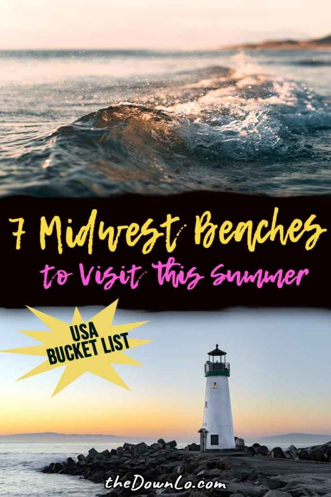 The best midwest weekend getaways for budget summer beach fun in the US. Skip the coast and head to middle America for small towns, kid friendly attractions, and road trips around Lake Michigan and the Great Lakes. Outdoor fun and activities around Chicago and bucket list family vacations with beautiful places to visit. #beaches #travel #usa