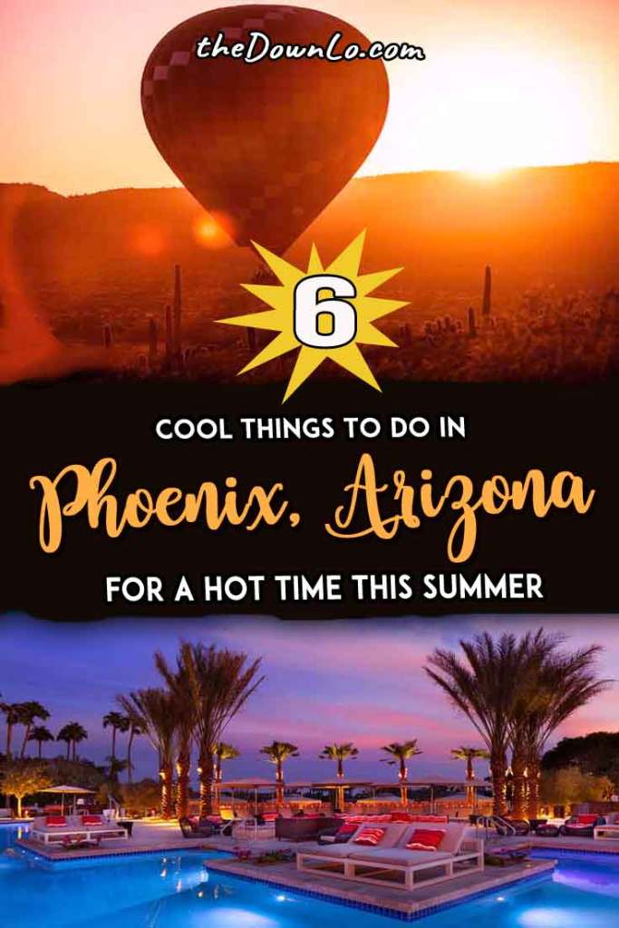 Things to do in Phoenix, Arizona. Travel tips for surviving summer in the hot hot desert heat and things to do with kids, families, adventure, and free fun. It's a great budget trip destination in the off-season with ideas for road tripping around the Grand Canyon state and activity suggestions for food, parks, art, gardens and selfie spots in one of America's beautiful Southwest cities. #vacations #summer #arizona #az #phoenix
