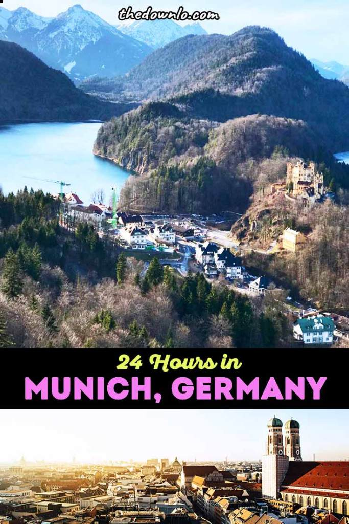 Munich, Germany in 24 Hours: the bucket list capital of Bavaria, here are the best travel tips and things to do from food and restaurants to Instagram photography spots and day trips from Munich. Experience Oktoberfest year-round at a beer garden, check out the architecture and cafes in Marienplatz and viktualienmarkt, and visit the famous castle for picture ideas. It's the perfect layover itinerary! And even the airport has beer :) #munich #munchen #germany #travel