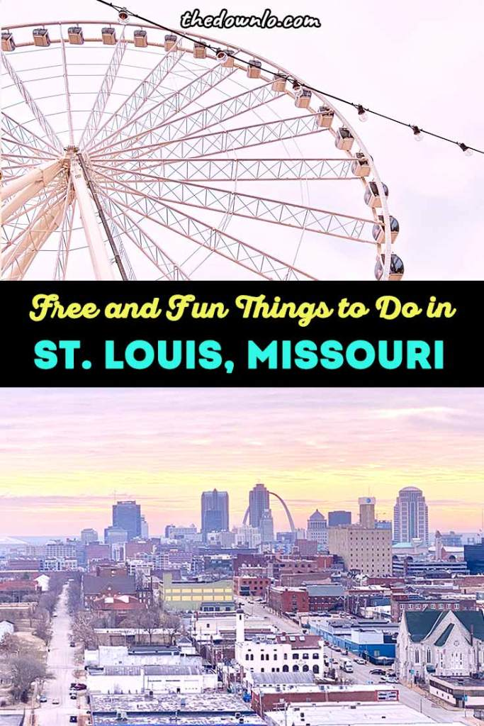 Things to do in St Louis, Missouri: Free and fun attractions for winter, spring and summer vacations. Plan a romantic or family vacation to the Midwest with travel ideas, restaurants and places to go in Grand Center and Union Station with kids or couples. See top sights like Gateway Arch national park, City Museum, and other cheap, unique art and museums for a kid friendly and culture filled weekend trip with indoor ideas for bad weather and outdoor photography and adventure spots. #stl #stlouis