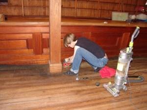Heidi sanding floor