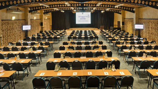 One of the two plenary venues at Champagne Sports Resort. (Source: Champagne Sports Resort).