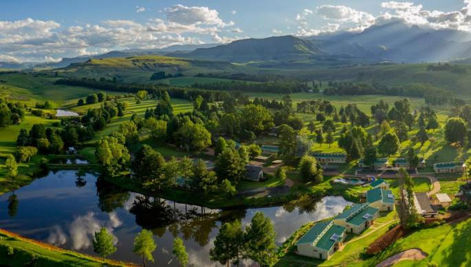 An aerial view of the Monks Cowl Golf Resort (Source: The owners)