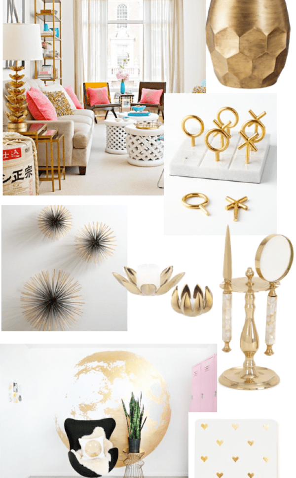 Brass is Back Living Spaces || The Dreamery