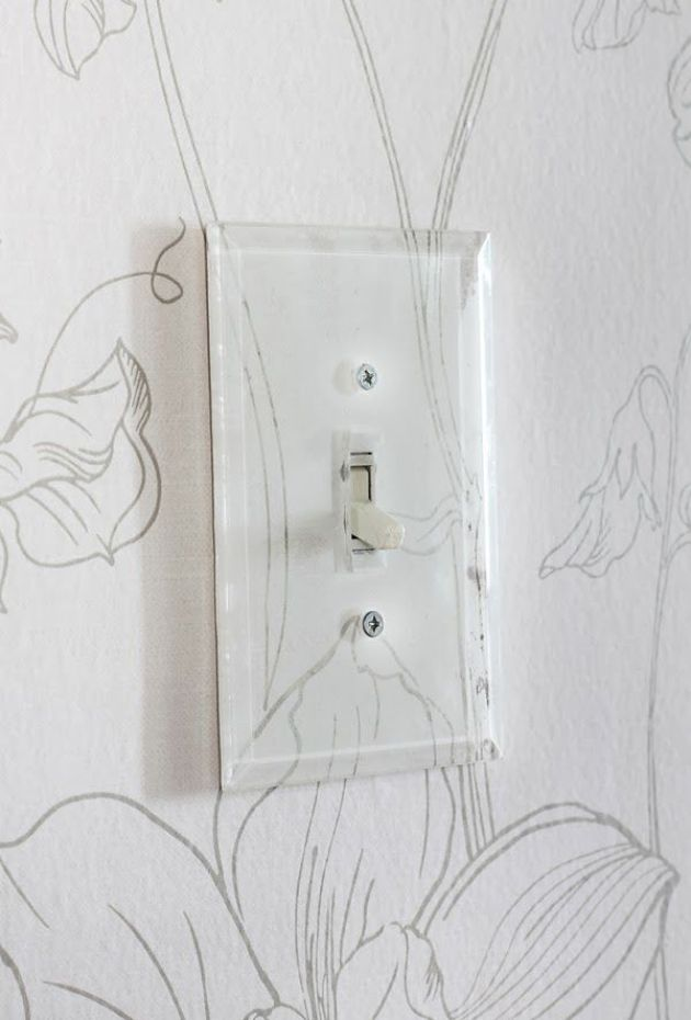 beveled glass switch plate