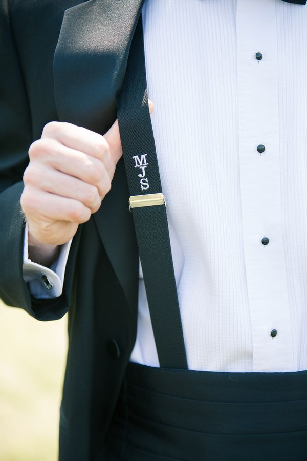 Fresh Wedding Details...Monogrammed Suspenders
