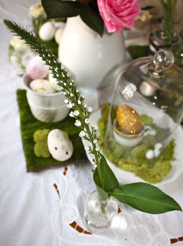 Golden egg hunt tablescape a natural textured diy