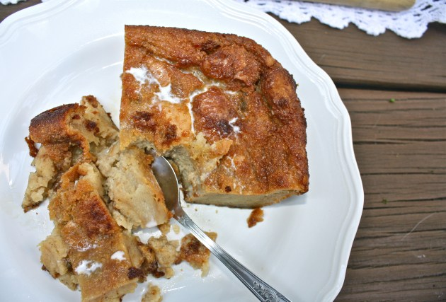 Peach Bourbon Bread Pudding
