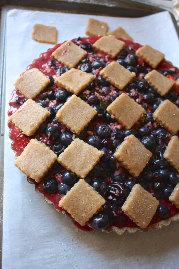 Blueberry + Lemon Mint Pie