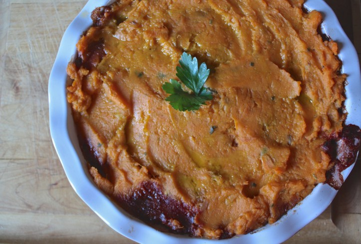 Sweet Potato + Mushroom Vegetarian Shepherd's Pie