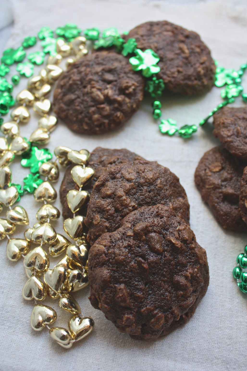 Vanilla Stout Chocolate Oatmeal Cookies