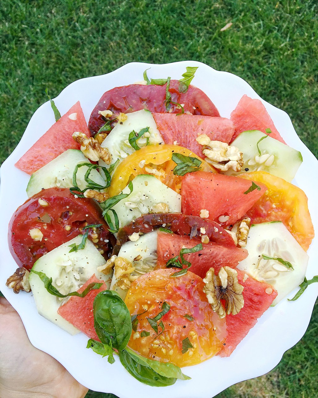 Late Summer Salads with Peaches + Watermelon | Dreamery Events