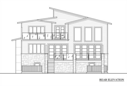 Washington Residence Rear Elevation by KW Design