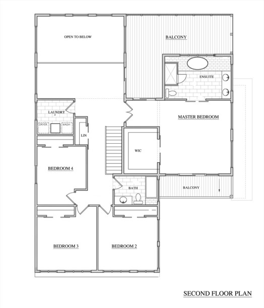 Washington Residence Second Floor Plan by KW Design