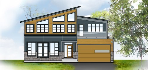 Dreamhouse front elevation rendering